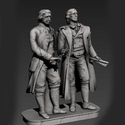 Statues Goethe Schiller