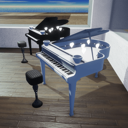 GRAND PIANO ANIMATED HEARTS-BACKGROUND MUSIC(2 COLORS BLACK&WHITE)