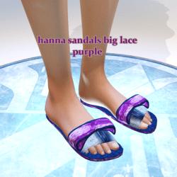 hanna sandals big lace purple