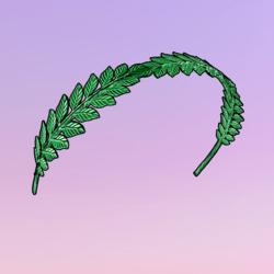Autumnization Leaves Headband Green