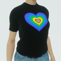 Pride Heart Animated Tee (female version)
