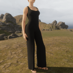 TKA-Jumpsuit black cotton
