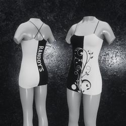 Dress Flora black white