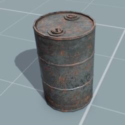 Rusty Oil Barrel