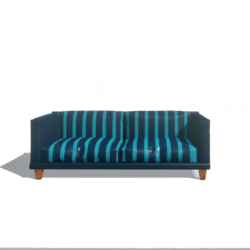 Striped blue couch