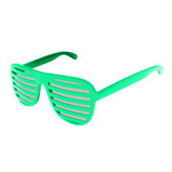Shutter Glasses (Green) - Female