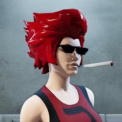 Red Lion Hair Glasses Smoke (female)