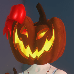 FREE Animated Pumpkin Head (Female)