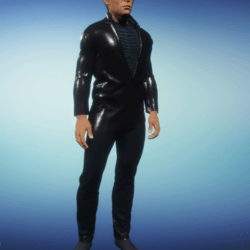 Black Leather Suit Full