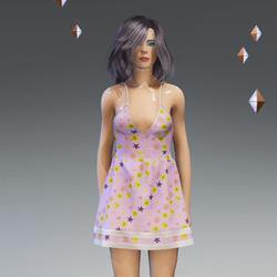 Female - Spring-Summer Pink Floral Dress