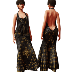 1920's Gown Black