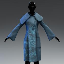 AV 2.0  Snowing outside coat - Blue