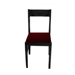 chaise en bois noir/Black medieval wooden table