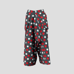 Trailblazing Pants with red and white spots
