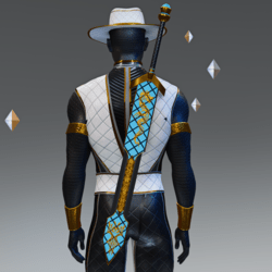 Blue and Gold Broadsword Model 03