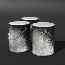 Three Old Cans with Lids