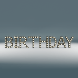 Birthday Marquee Blinking Sign