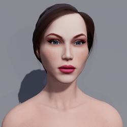 Angela - Porcelain - Light Pink Makeup - Blue Eyes - Women AV2