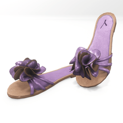 Flower sandals for alina - purple