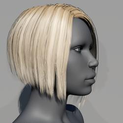 Hair - Asymmetrical Bob - Blonde Californian