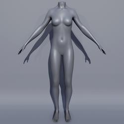 Woman AV2 Mannequin Avatar - Grey