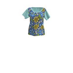 Scoop neck flowers Ladies T-shirt