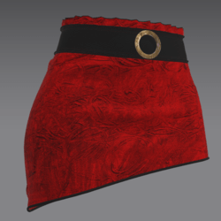Yap skirt red