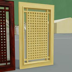 Lattice Door 01 White Ash