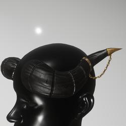 ornate horns