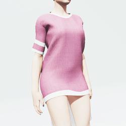 Dark Pink Baggy Shirt