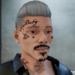 PeeP face Tattoo