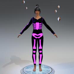 Skeleton purple