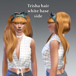 trisha hair side-floral bow