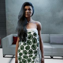 Polynesian Wrap Dress #7