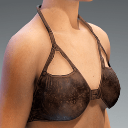 Top Bustier Leather Drak Weathered Brown