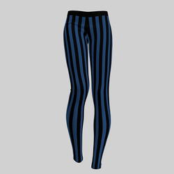 Leggings Maddy Stripes Black & Blue 2.0