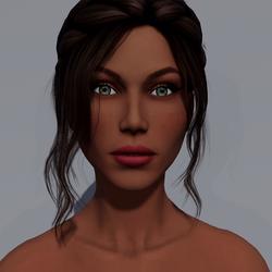 Angela - Toffee - Dark Pink Makeup - Green Eyes - Women AV2