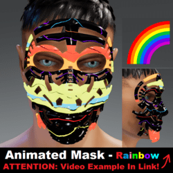 Animated Mask: Rainbow - Male Avatars