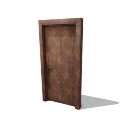 DoorSet A [Grunge wood]