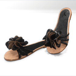 Flower sandals for alina - black