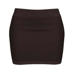Woman Simple Skirt - Brown