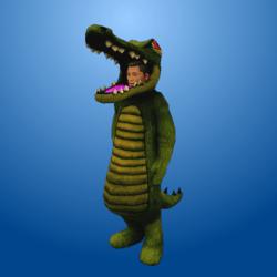 Croc Costume DarkGreen (Male)
