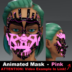 Animated Mask: Pink - Female Avatars