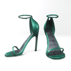Ankle strap sandals for Nicci- glitter biscay green