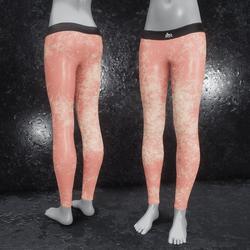 Leggings Fractal Leather rose