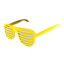 Shutter Glasses (Yellow) - Female