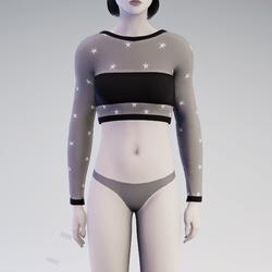 Black Star See-Through Sweater