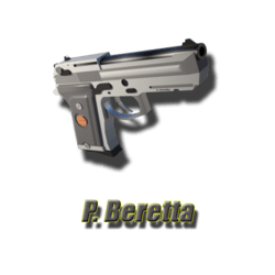 P. Beretta pistol
