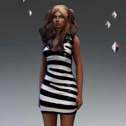 Zebra Latex Dress Angel