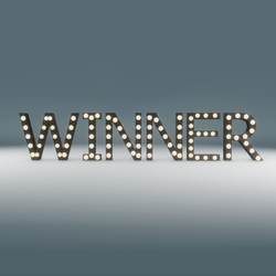 Winner Marquee Blinking Sign
